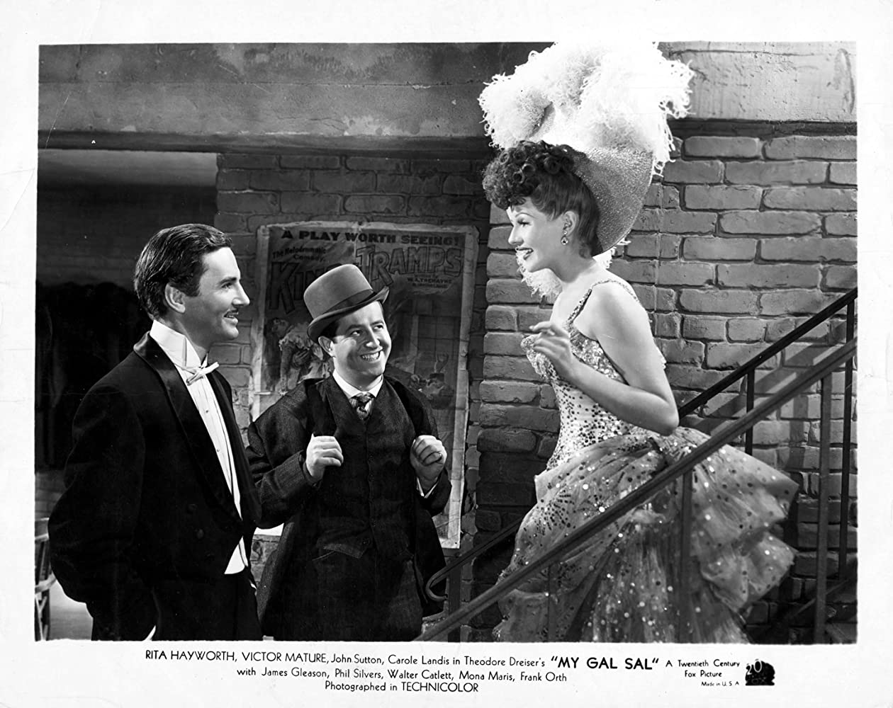 Rita Hayworth, Phil Silvers, and John Sutton in My Gal Sal (1942)