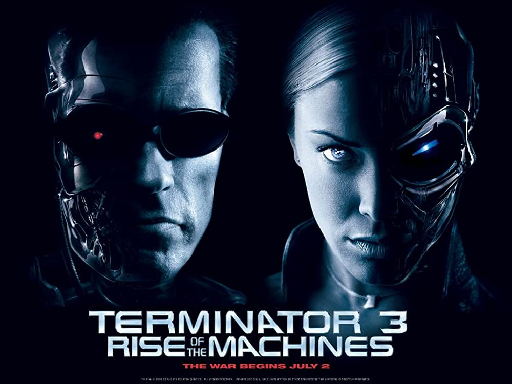Poster film Terminator 3: Rise of the Machines.