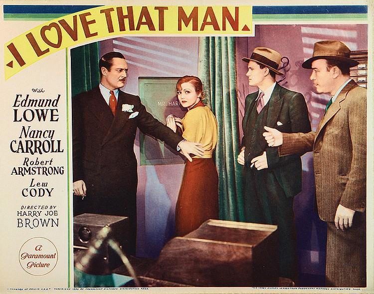 Nancy Carroll, Robert Armstrong, Warren Hymer, and Edmund Lowe in I Love That Man (1933)
