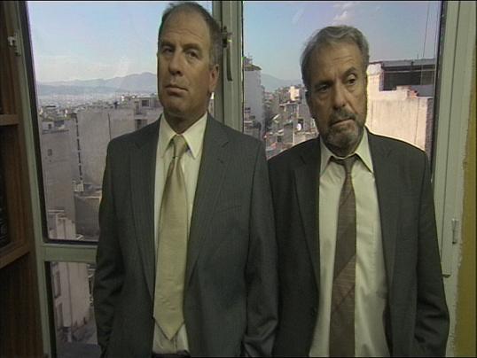 Minas Hatzisavvas and Kostas Triantafyllopoulos in Amyna zonis (2007)