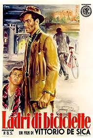 Lamberto Maggiorani and Enzo Staiola in Ladri di biciclette (1948)