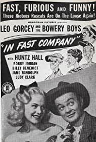 William 'Billy' Benedict, Judy Clark, Leo Gorcey, Huntz Hall, and Bobby Jordan in In Fast Company (1946)