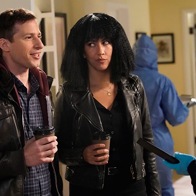 Andy Samberg and Stephanie Beatriz in Brooklyn Nine-Nine (2013)