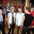 Craig Sheffer, Troy Mack, Marshall Rohner, Jeffrey Cranford, and Jimmy Haddox in Voyage of the Rock Aliens (1984)
