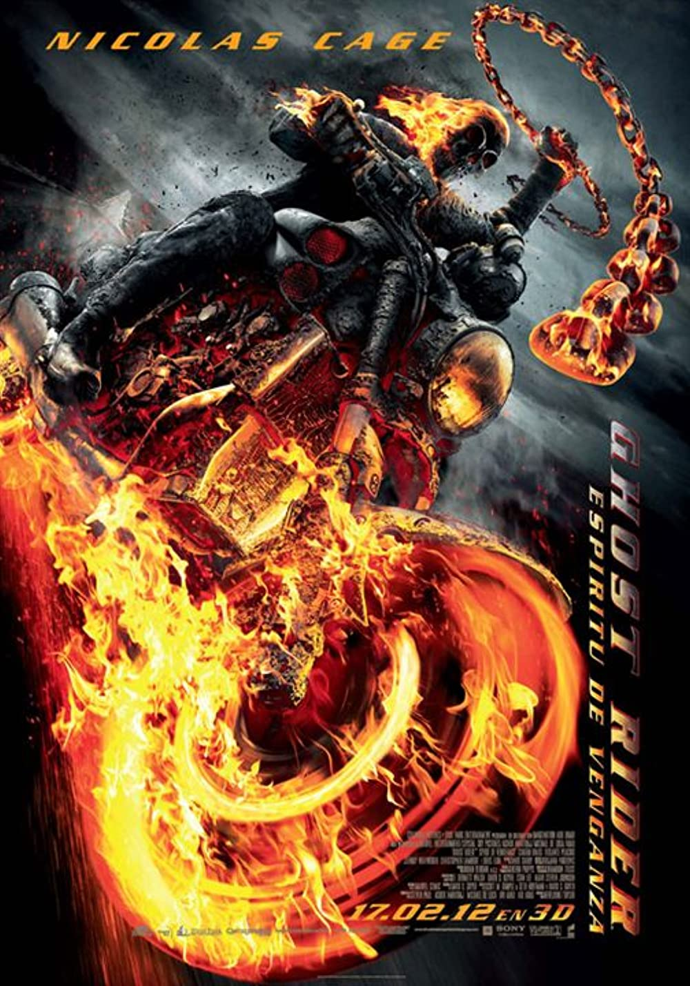 Ghost Rider: Spirit of Vengeance 2011 Dual Audio Hindi ORG 350MB BluRay 480p ESubs