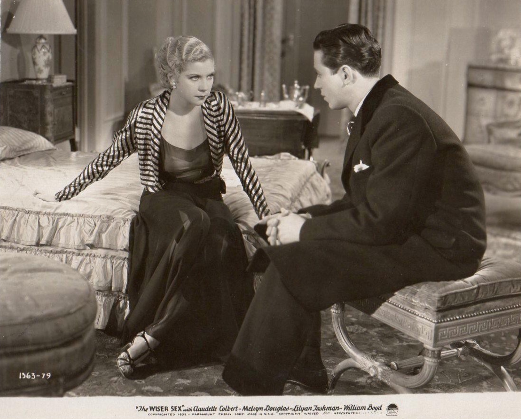 Ross Alexander and Lilyan Tashman in The Wiser Sex (1932)