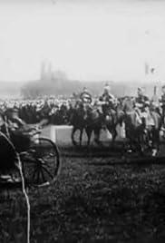 Revue à Longchamp: charge finale et départ de M. le Président Poster