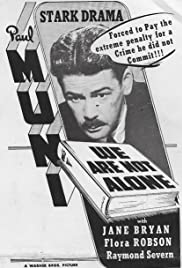 We Are Not Alone(1939) Poster - Movie Forum, Cast, Reviews