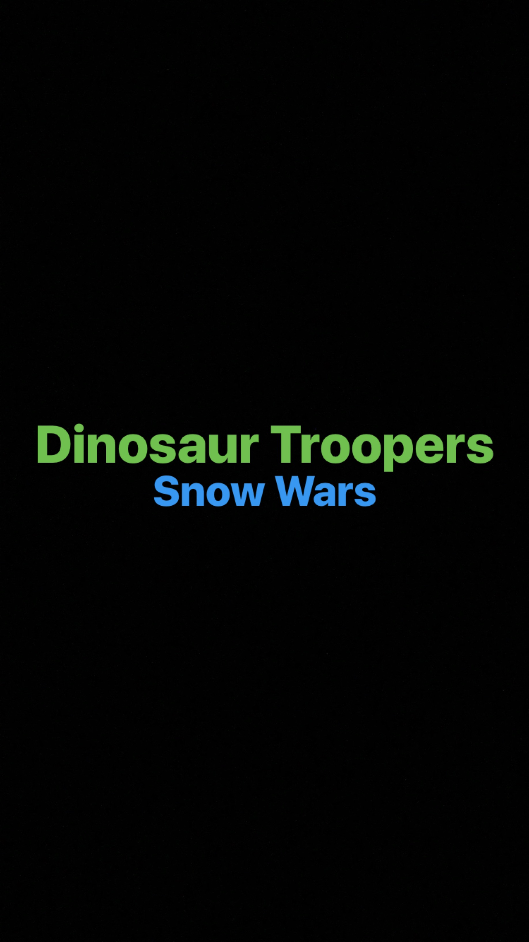 Dinosaur Troopers: Snow Wars