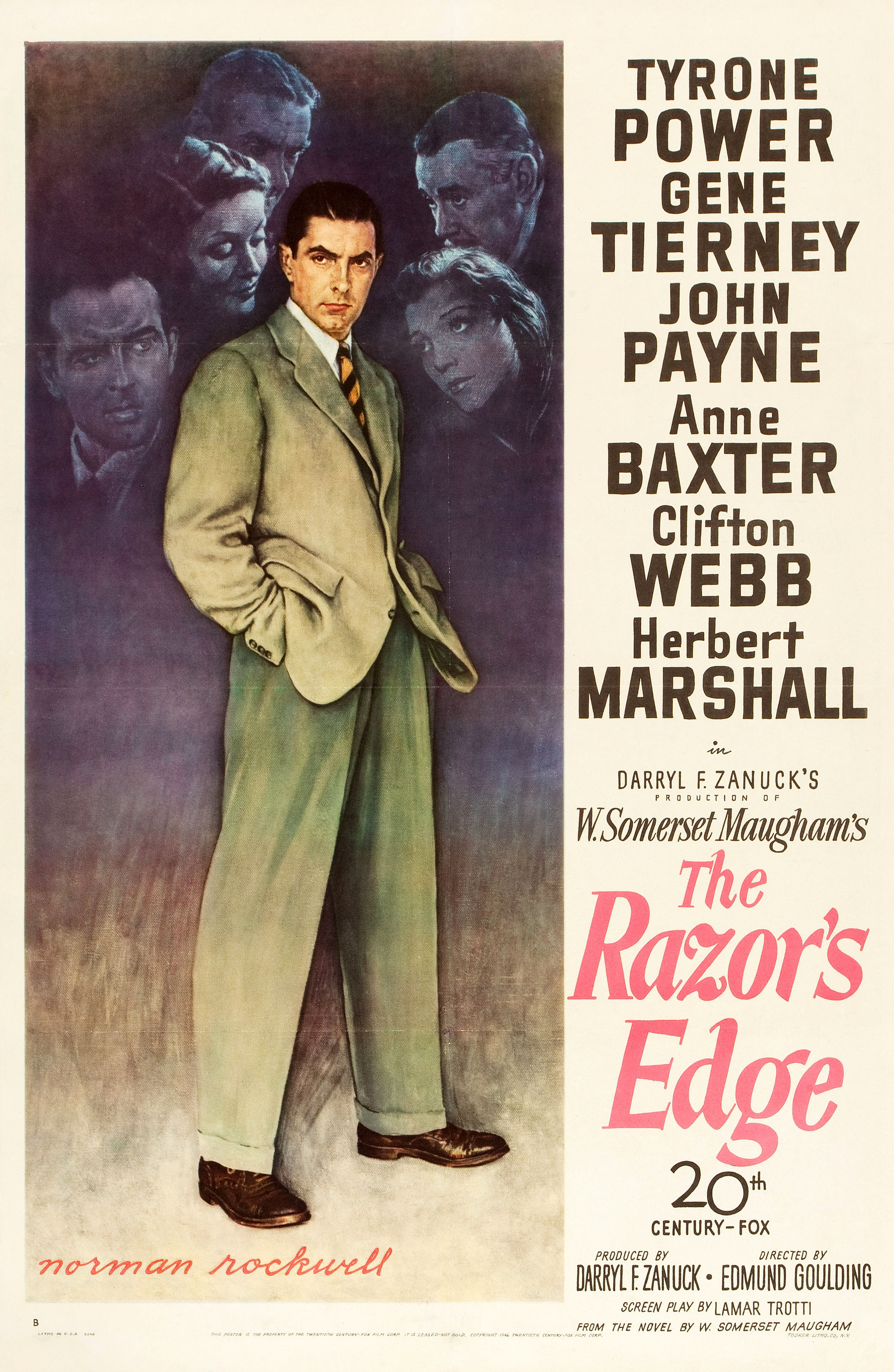 Image result for the razor's edge 1946