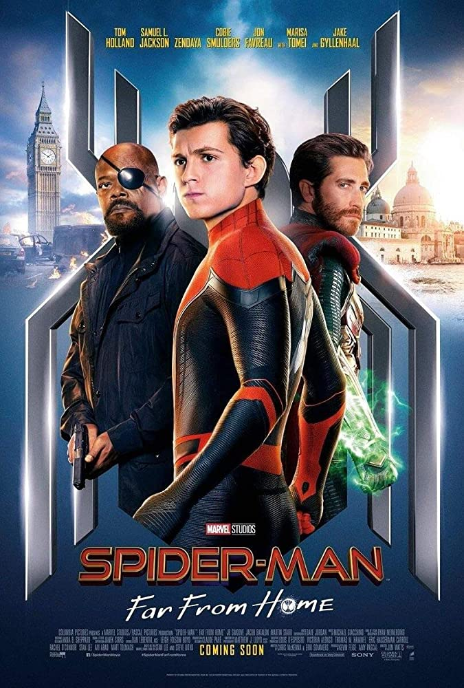 Samuel L. Jackson, Jake Gyllenhaal, and Tom Holland in Spider-Man: Far from Home (2019)