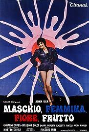 Maschio, femmina, fiore, frutto Poster