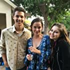 """On set of """"Inconceivable"""" with Marguerite Moreau and Sammi Hanratty"""