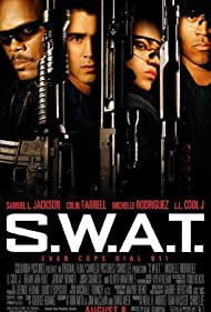 Samuel L. Jackson, LL Cool J, Colin Farrell, and Michelle Rodriguez in S.W.A.T. (2003)