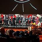 Hernán Mendoza, Ozcar Ramírez González, Maja Zimmermann, Mónica Lozano, Amir Galván Cervera, Adrian Ladron, and Mitzi Vanessa Arreola at an event for La 4ª Compañía (2016)