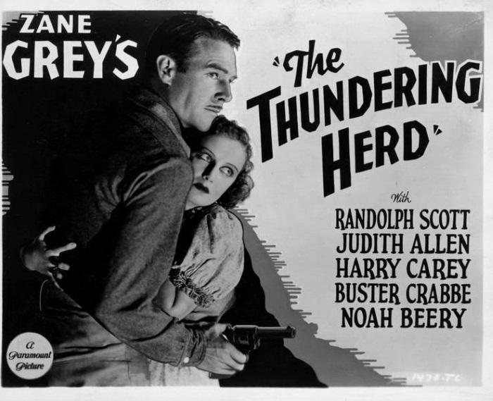 Randolph Scott and Judith Allen in The Thundering Herd (1933)