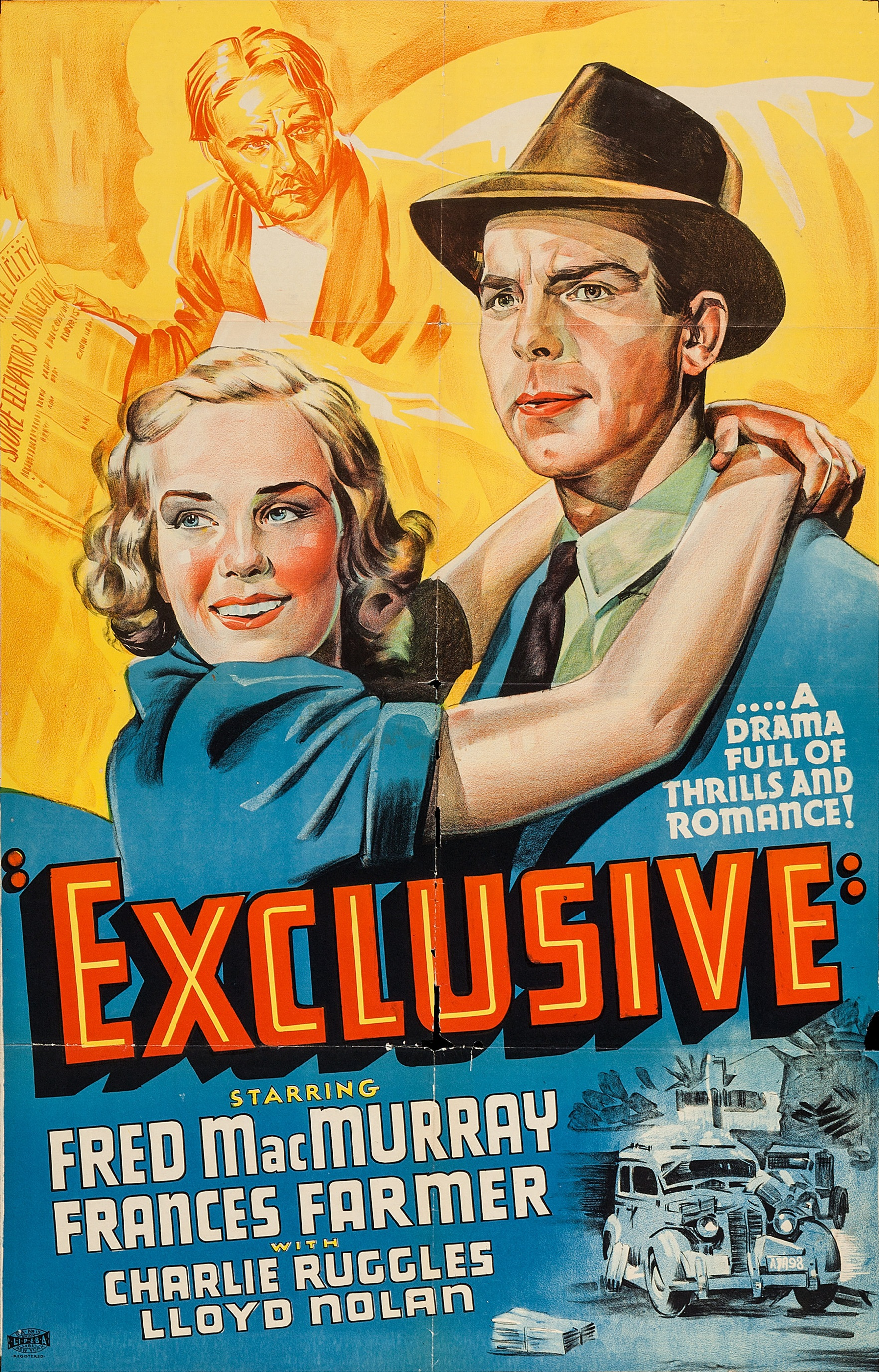 Frances Farmer, Fred MacMurray, and Charles Ruggles in Exclusive (1937)