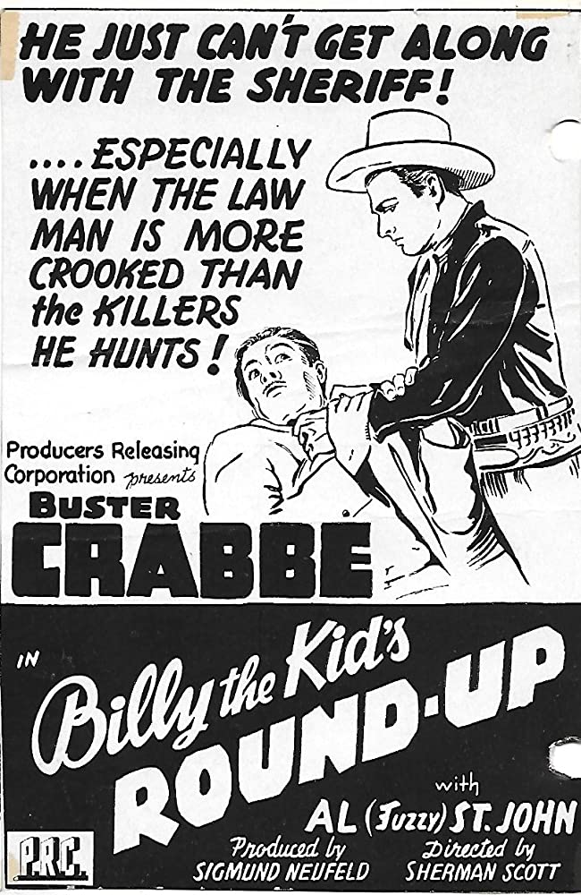 Buster Crabbe and Charles King in Billy the Kid's Round-Up (1941)