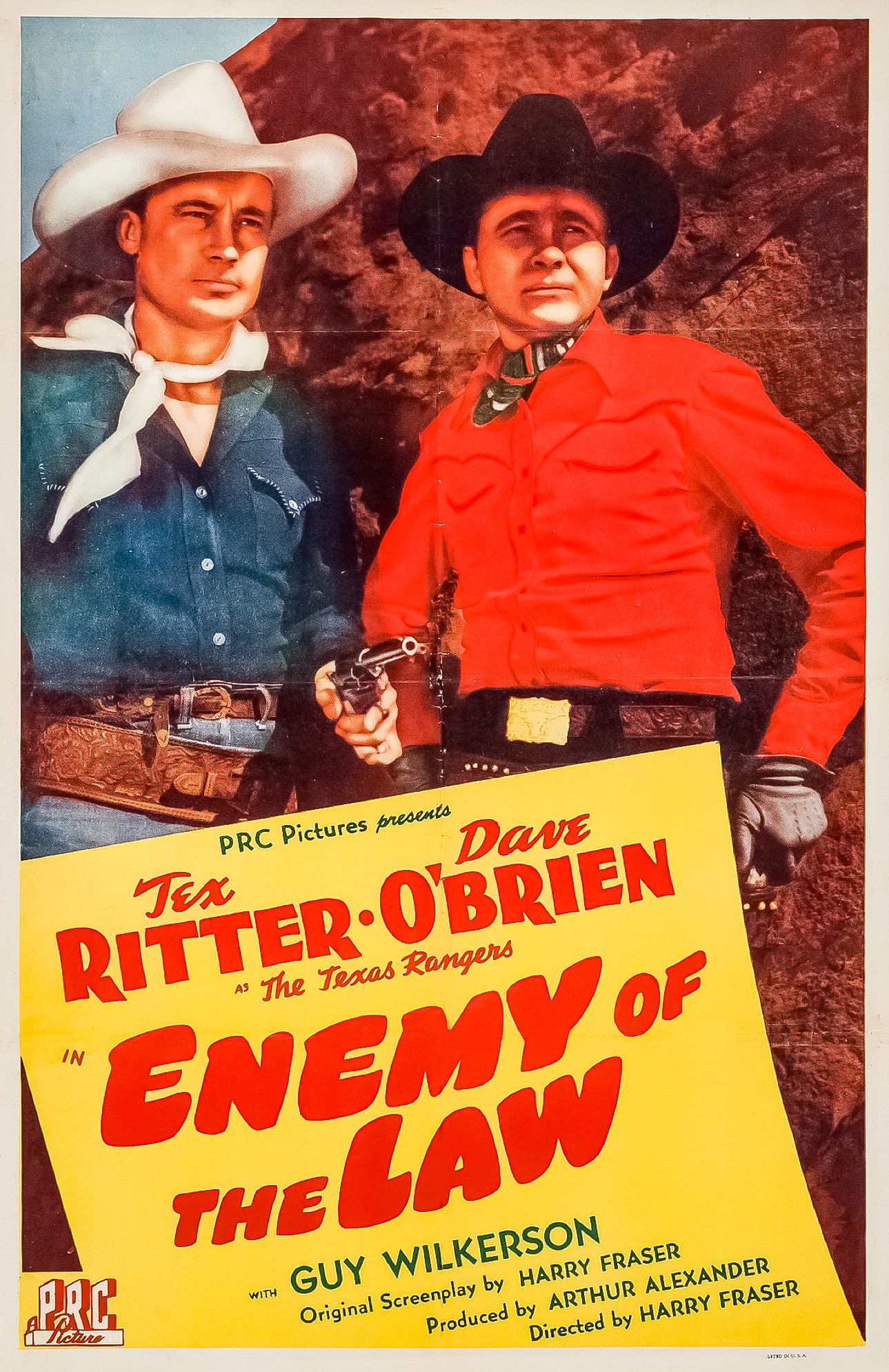Dave O'Brien, Tex Ritter, and Guy Wilkerson in Enemy of the Law (1945)