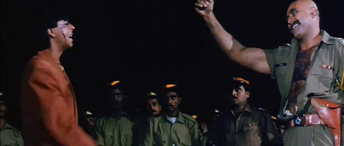 Puneet Issar and Shah Rukh Khan in Ram Jaane (1995)