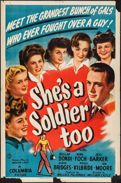 Nina Foch, Jess Barker, and Beulah Bondi in She's a Soldier Too (1944)