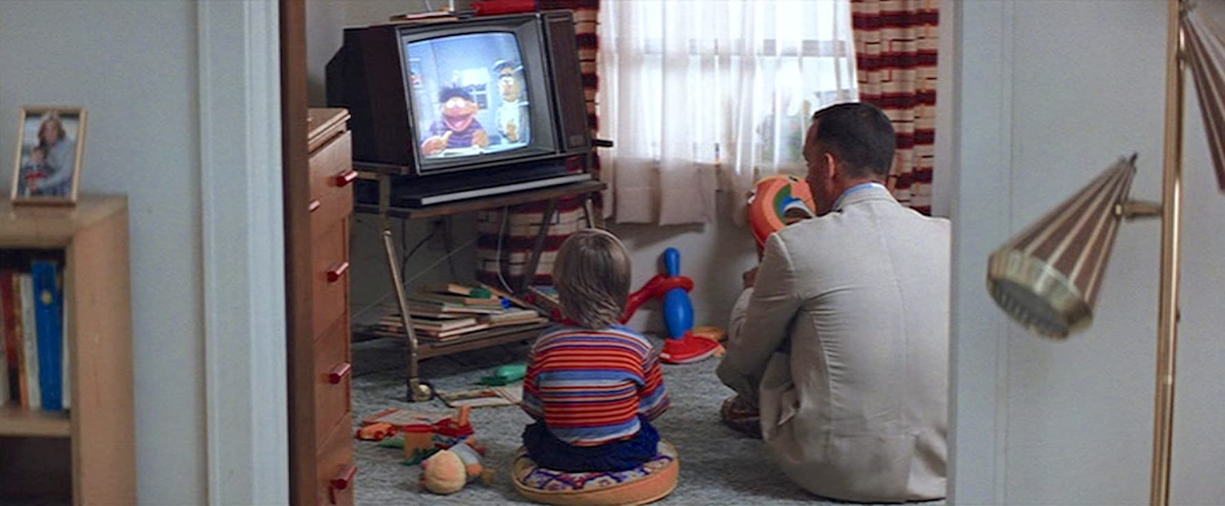 Tom Hanks and Haley Joel Osment in Forrest Gump (1994)
