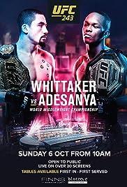 UFC 243: Whittaker vs. Adesanya Poster