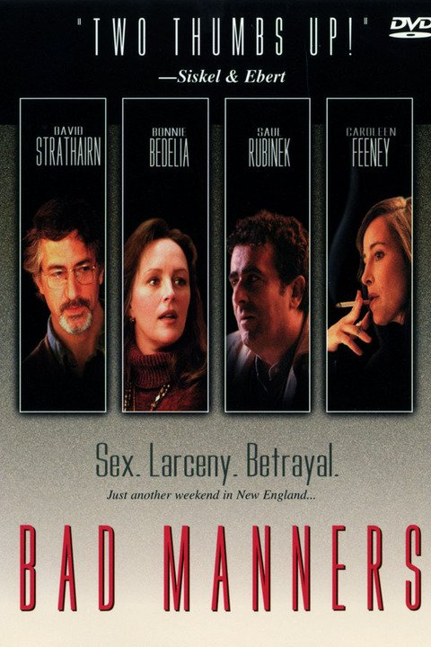 David Strathairn, Bonnie Bedelia, Saul Rubinek, and Caroleen Feeney in Bad Manners (1997)