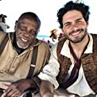 Francis Chouler and Louis Gossett Jr on set of Book of Negroes in South Africa
