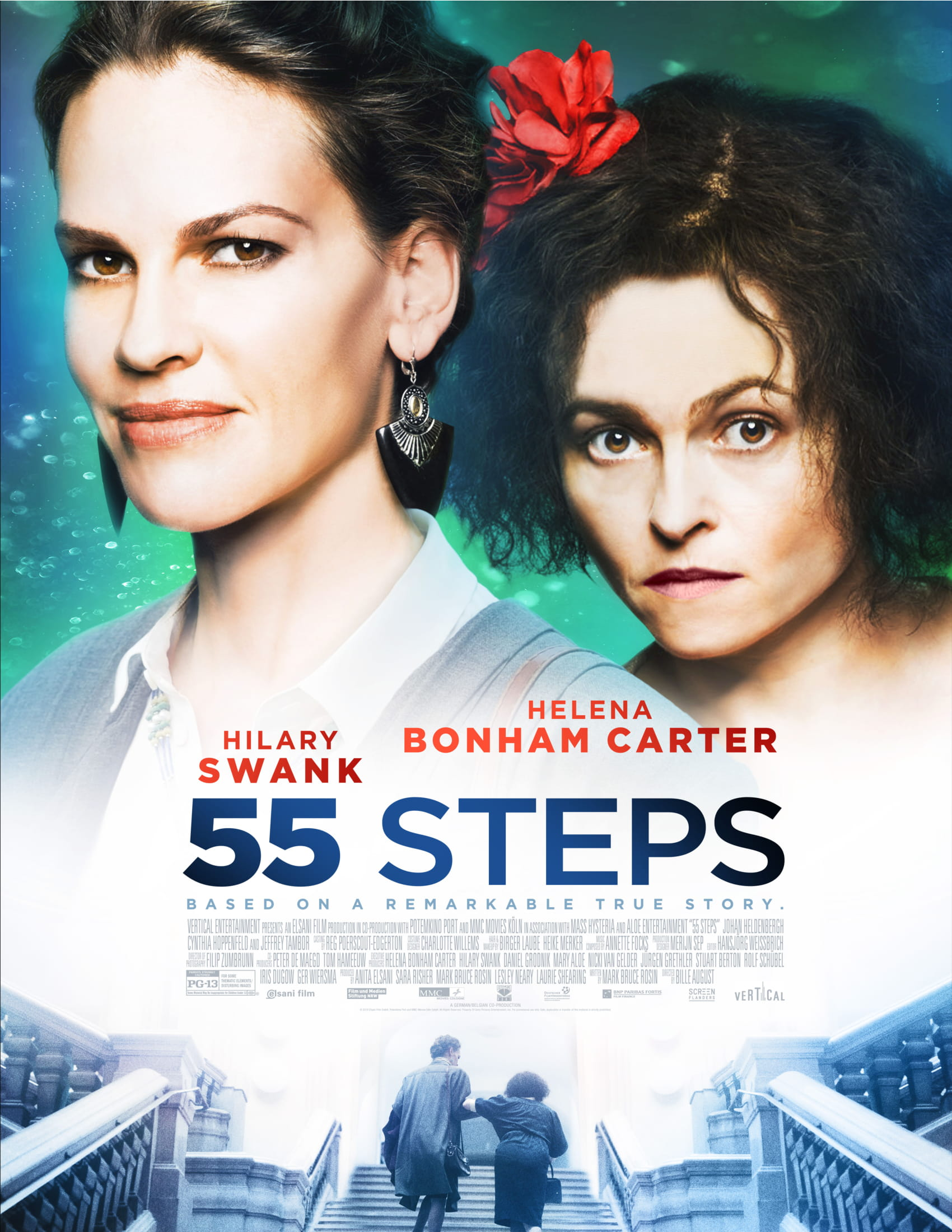 Helena Bonham Carter and Hilary Swank in 55 Steps (2017)