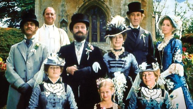 Susan Hampshire, Philip Latham, Donal McCann, Barbara Murray, and Bryan Pringle in The Pallisers (1974)