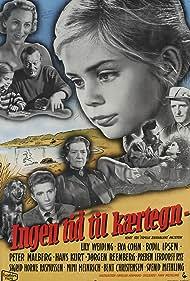 Eva Cohn, Hans Kurt, Jørgen Reenberg, and Lily Weiding in Ingen tid til kærtegn (1957)