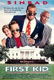 Sinbad, Zachery Ty Bryan, Robert Guillaume, and Brock Pierce in First Kid (1996)