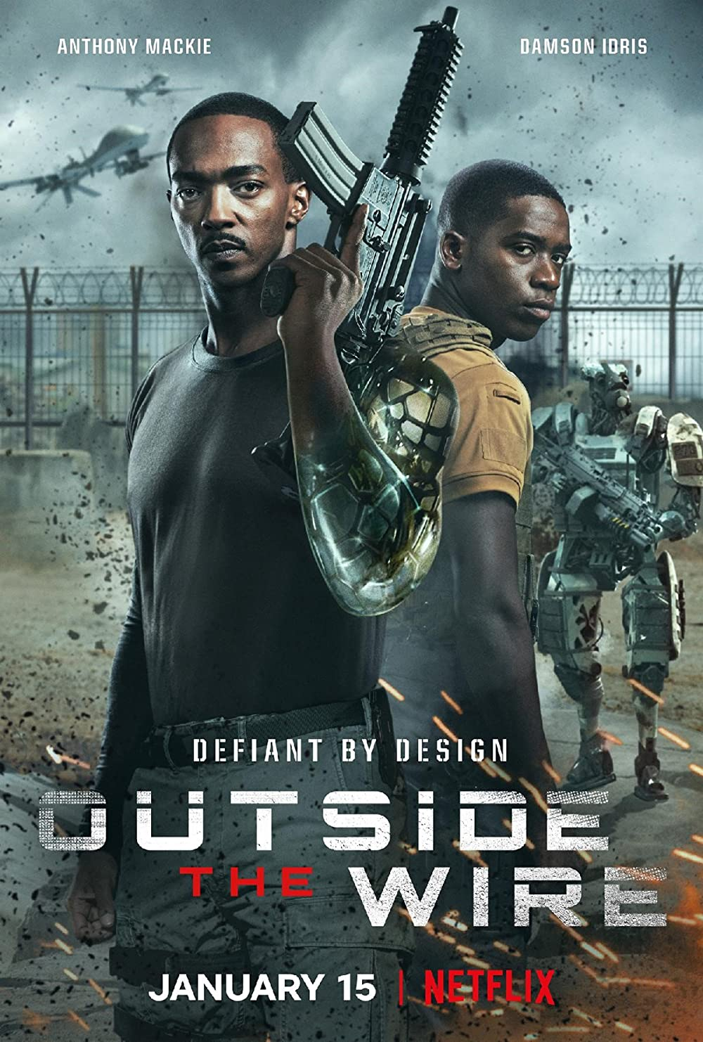 Outside the Wire 2021 Hindi ORG Dual Audio 400MB NF HDRip ESubs Download