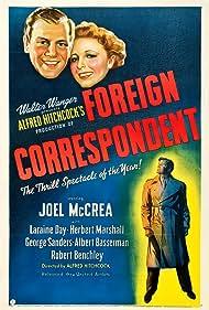 Laraine Day and Joel McCrea in Foreign Correspondent (1940)