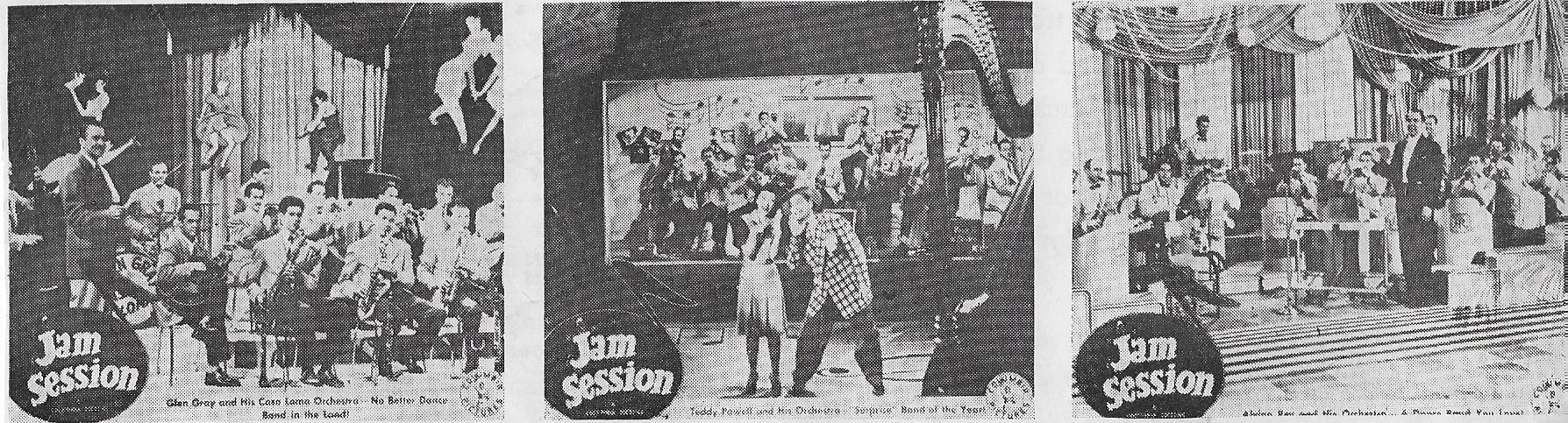 Glen Gray, Teddy Powell, Alvino Rey, Alvino Rey's Orchestra, Glen Gray's Orchestra, and Teddy Powell's Orchestra in Jam Session (1944)