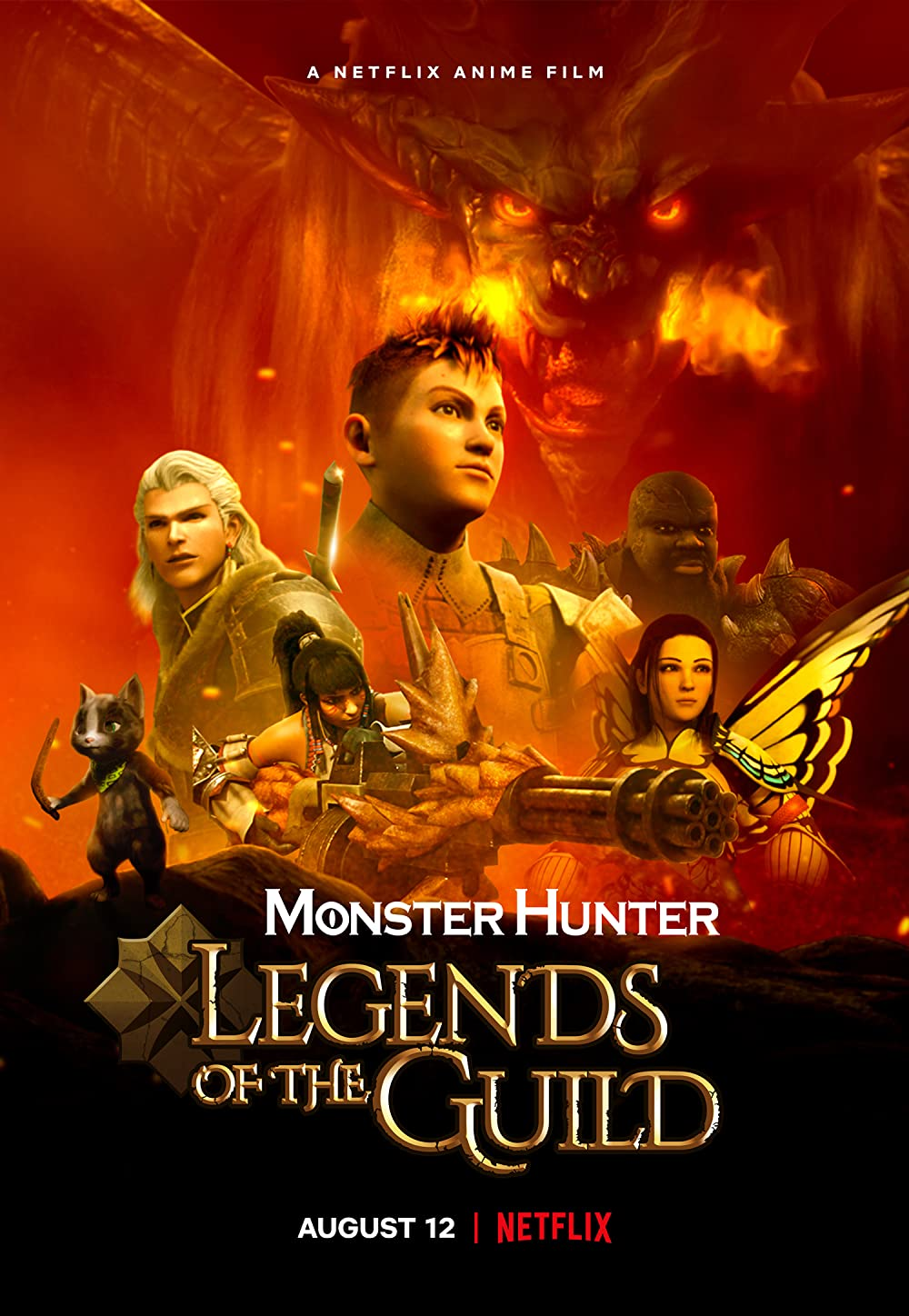 Monster Hunter Legends of the Guild 2021 English 720p | 480p NF HDRip MSub 700MB Download
