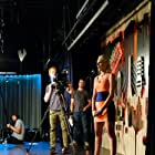 Jordan Tofalo on stage performing as 'Heather Chase' in 'Sweeney Killing Sweeny'