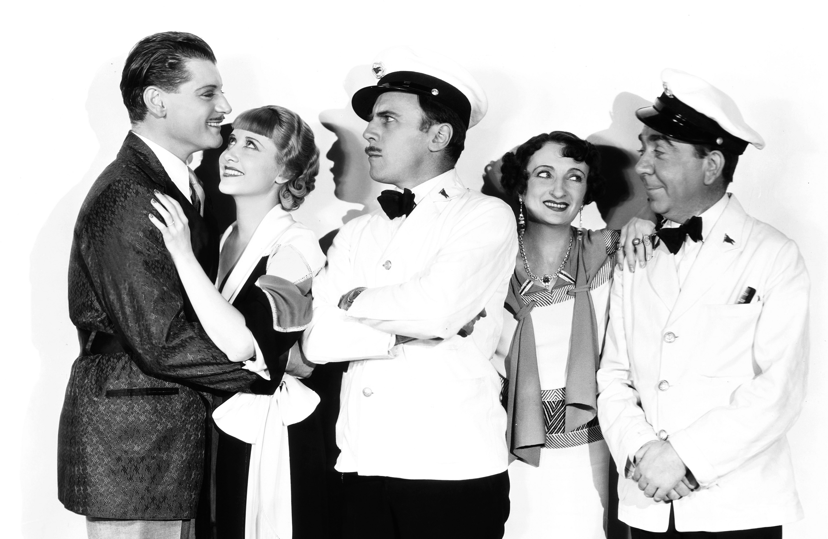 Ralph Forbes, Herbert Mundin, Una O'Connor, Genevieve Tobin, and Roland Young in Pleasure Cruise (1933)