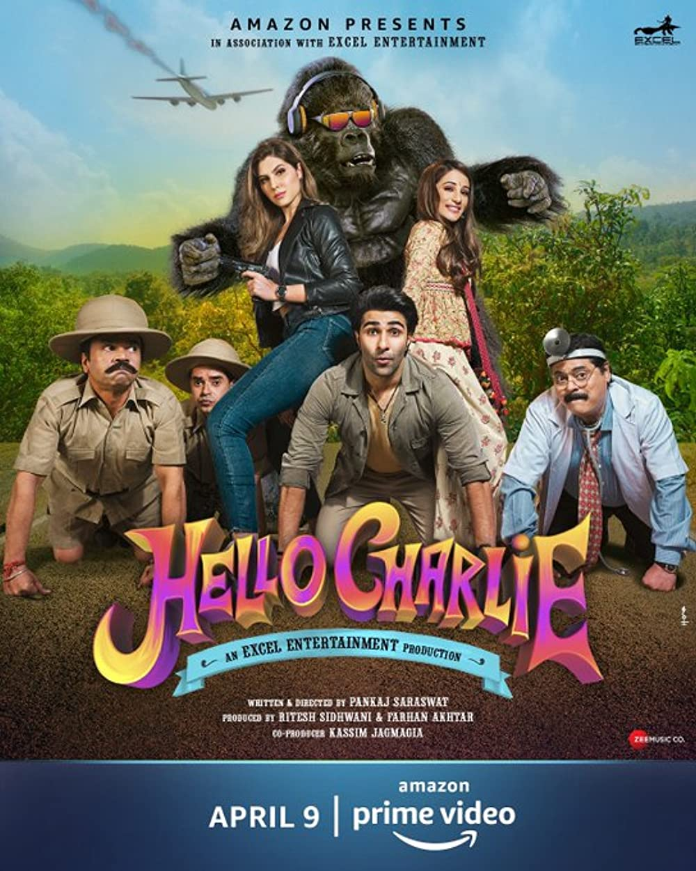Hello Charlie 2021 Hindi Movie 720p AMZN HDRip ESubs 900MB Download