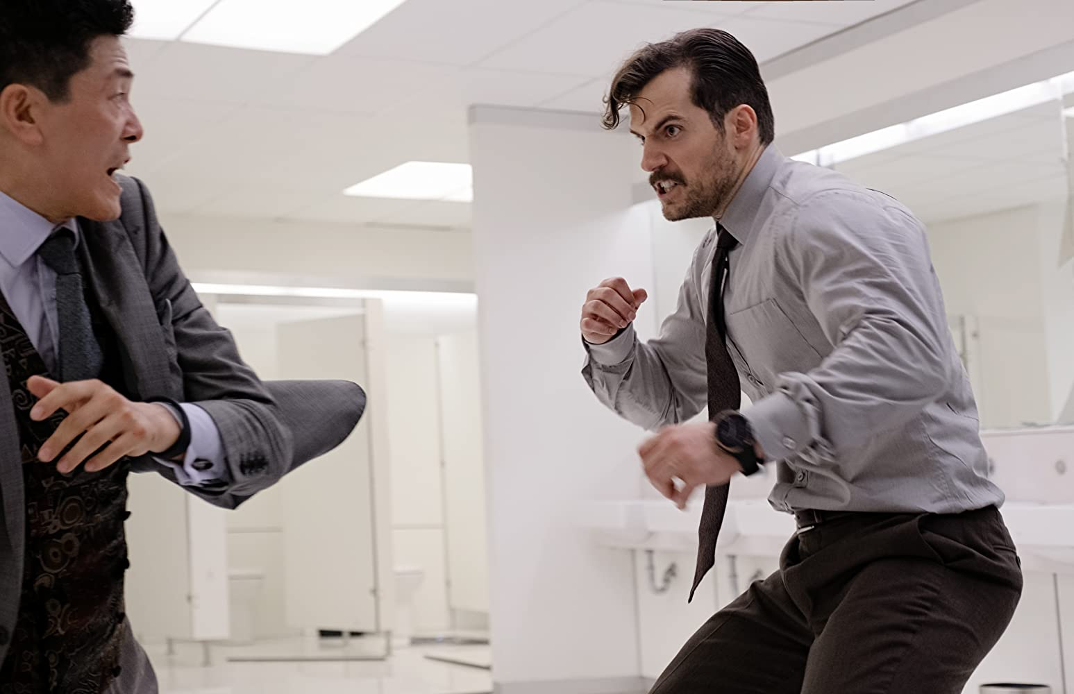 Henry Cavill and Liang Yang in Mission: Impossible - Fallout (2018) missão impossível efeito fallout crítica