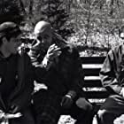 On set shot of director John L'Ecuyer, Maurice Dean Wint and Keith Callum in Curtis's Charm