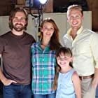 Lauren on set for Blood Relatives with her fake family...amazing actors, Jessica Vargas (center), Jon Walburg (right), and James Hal Hardy (left)