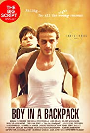Boy in a Backpack Poster