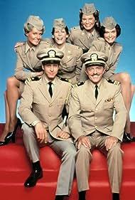 Jamie Lee Curtis, John Astin, and Richard Gilliland in Operation Petticoat (1977)