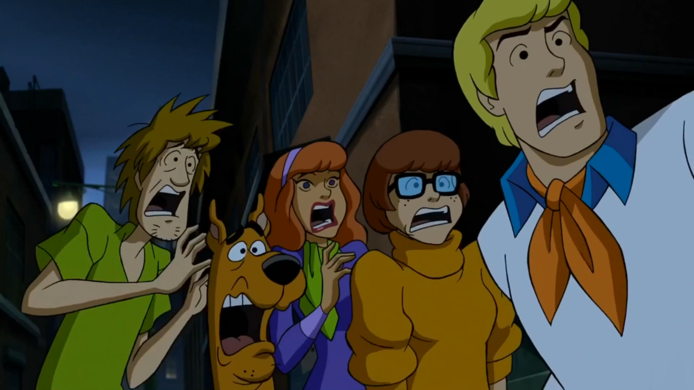 Matthew Lillard, Grey Griffin, Frank Welker, and Kate Micucci in Scooby-Doo: Return to Zombie Island (2019)