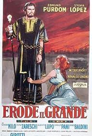 Sylvia Lopez and Edmund Purdom in Erode il grande (1959)