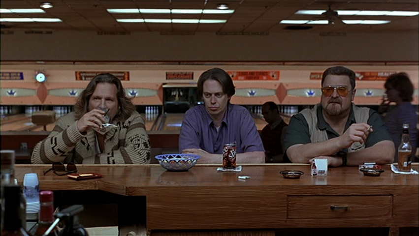 Steve Buscemi, Jeff Bridges, and John Goodman in The Big Lebowski (1998)