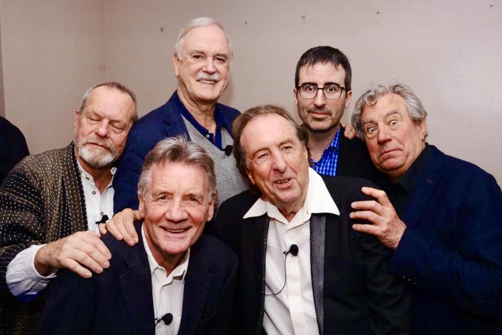 John Cleese, Terry Gilliam, Eric Idle, Terry Jones, Michael Palin, John Oliver, and Monty Python