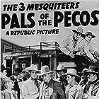 Tom London, Rufe Davis, Robert Frazer, June Johnson, Robert Livingston, Pat O'Malley, and Bob Steele in Pals of the Pecos (1941)